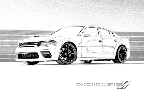 New Police Car Dodge Charger Coloring Pages Printable | 375x570