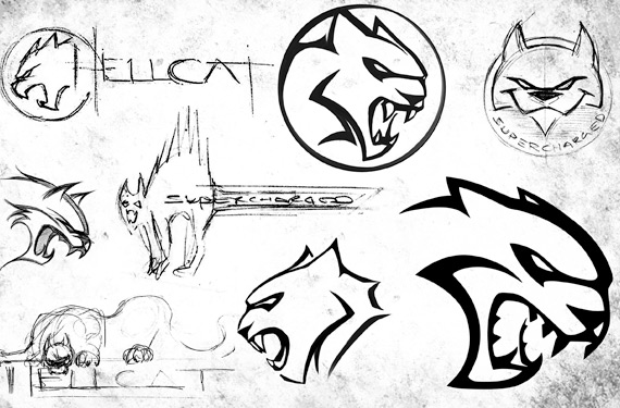 Hellcat Logo Evolution