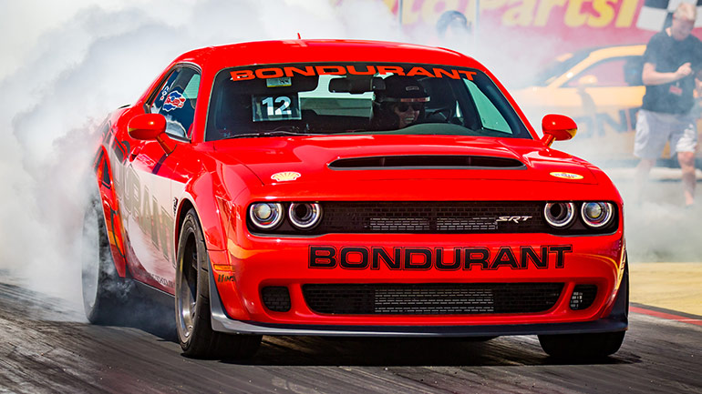 Bondurant Drag Racing - Dodge Demon at starting line