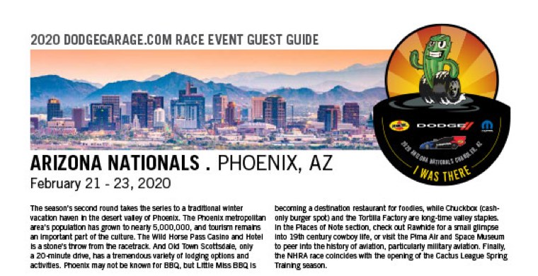 NHRA Arizona Nationals Guest Guide