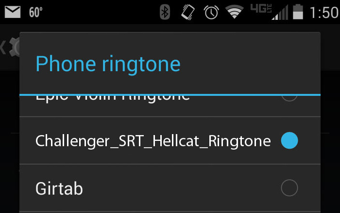 Ringtones - Android Step 7
