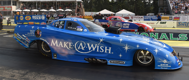make a wish racecar at Seattle Northwest Nationals