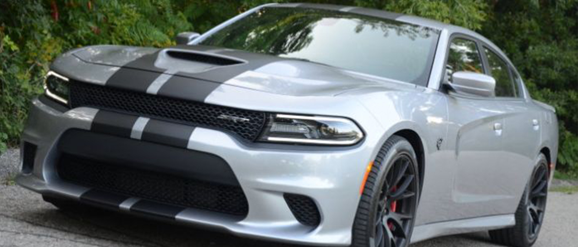 Grey Dodge Charger Hellcat