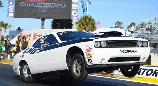 White Dodge Challenger Drag Pak