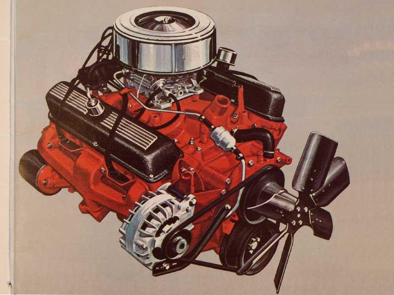 LA series 273 small block V8 engine in 1964