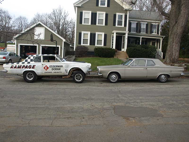 """a stock 1963 Dart GT and""""Rampage"""""""
