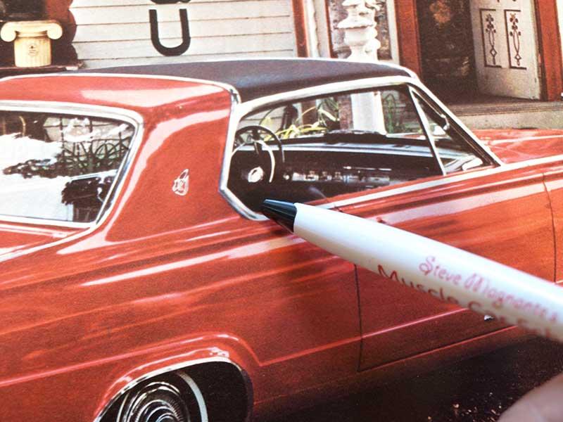 1963-'66 Dart's reverse-angled B-pillar shape