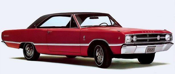 Older red Dodge 'Cuda