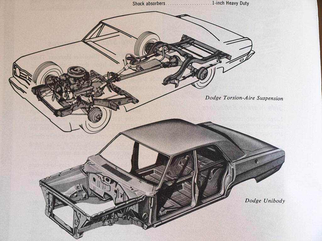 factory cutaway illustration of a 1969 Dart 4-door sedan