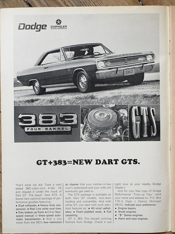 1967 Dart GTS 383 In this magazine ad
