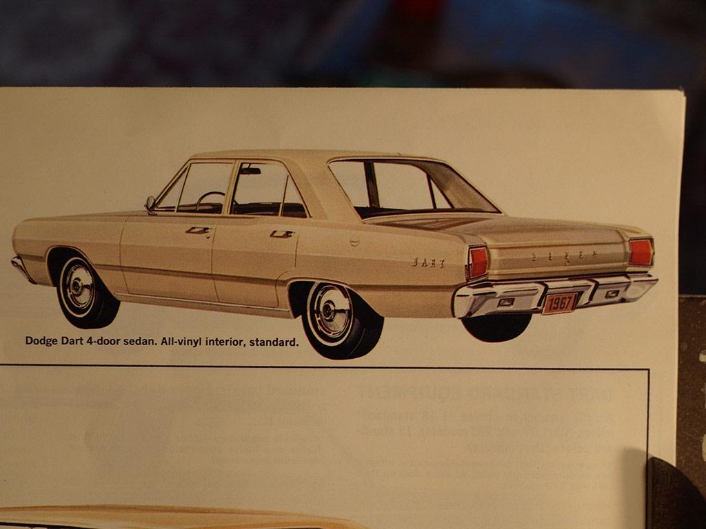 1967 Dodge Dart in a magazine