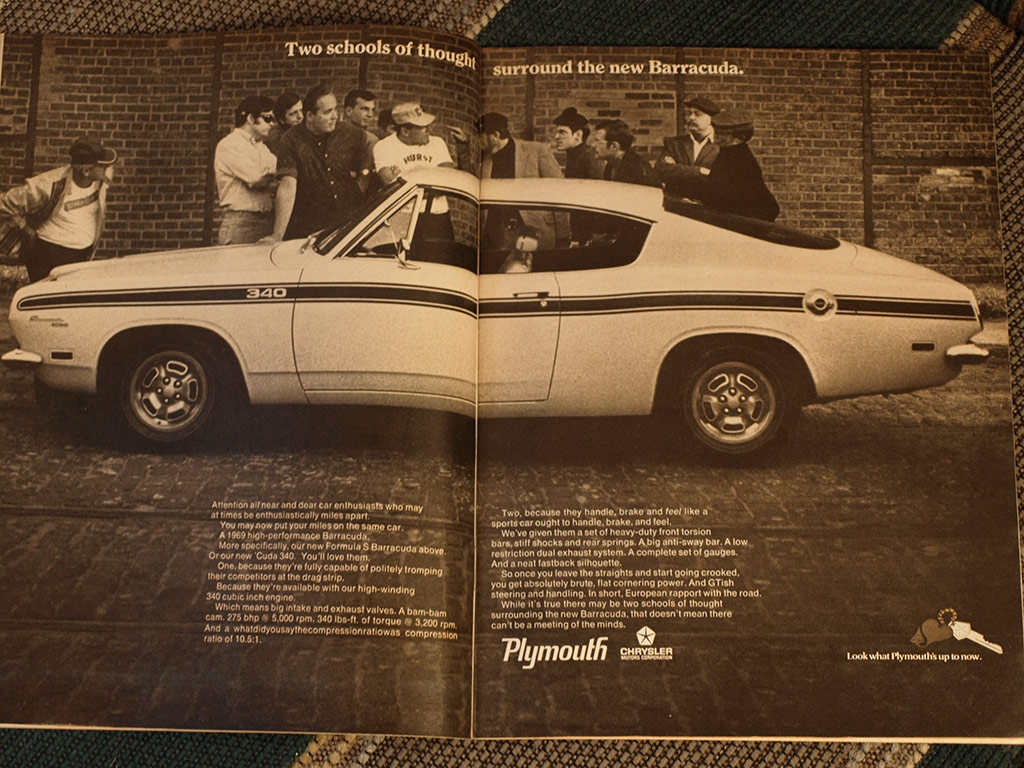 second generation Barracuda In this 1969 magazine ad