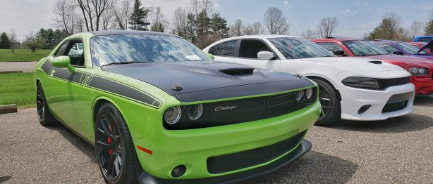 Green Dodge Challenger T/A