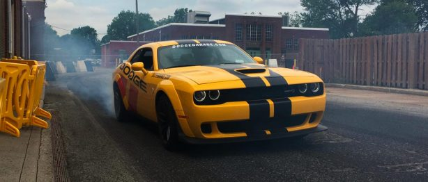 dodge challenger yellow hellcat