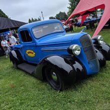 Mopar Blue Older Car