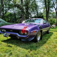 Purple Dodge Challenger GTX