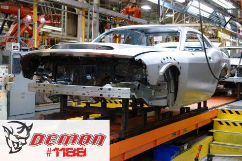 Dodge Demon SRT number 1188 on production