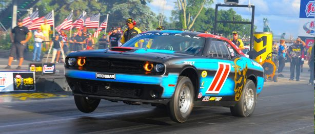 Dodge Challenger racing at the NHRA Summit Nationals