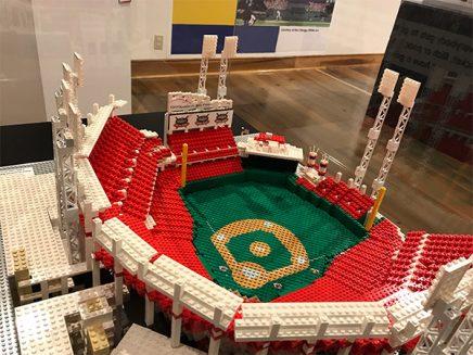 Baseball stadium made out of legos