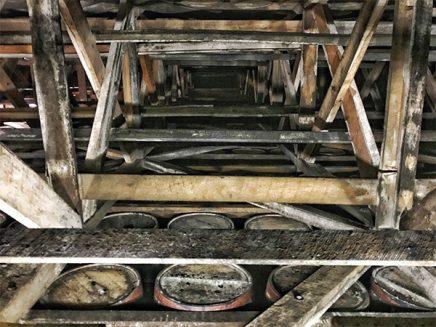 wooden understructure