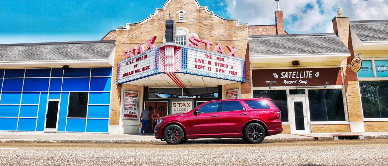 Dodge Durango infront of Stars theater