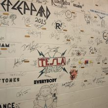 The Mohegan Sun Arena back stage walls are signed by some of the world's biggest names. One of your author's favorites – the Smashing Pumpkins – takes the stage July 29. The Pumpkins' lead man, Billy Corgan, is a regular Barrett-Jackson visitor and bidder.