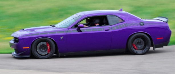 Purple Dodge SRT Hellcat