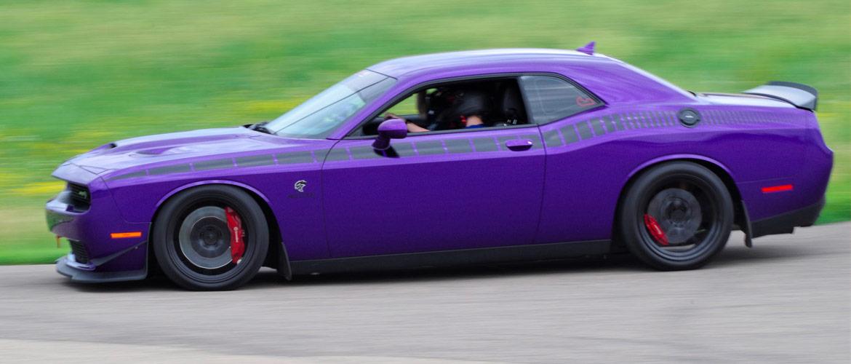 Purple Dodge SRT Hellcat