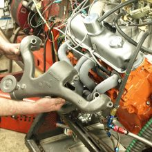 The swap from manifolds to headers took a half hour with the engine resting on the dyno. In-car header installations are another matter. But the power they unleash is worth the struggle.