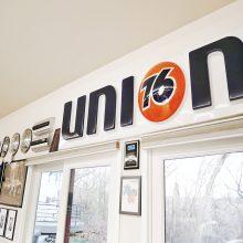 Union 16 sign