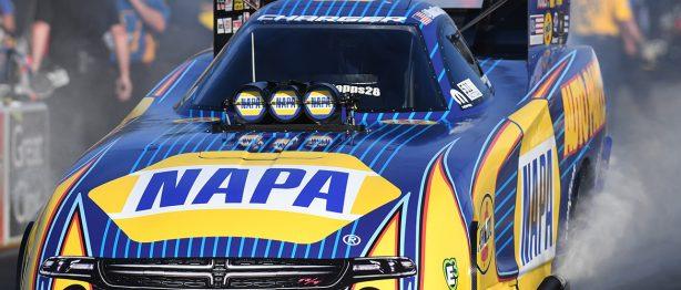 NAPA racecar at NHRA Sonoma