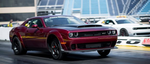 Dark red SRT Challenger
