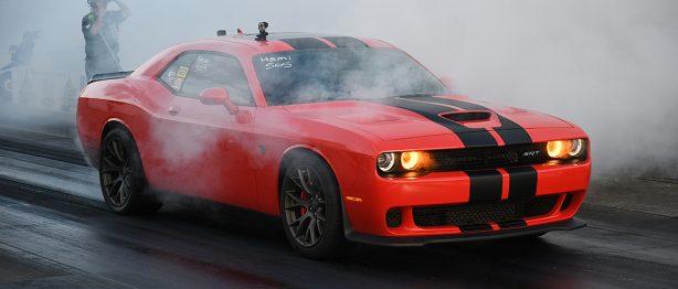 Dodge SRT Hellcat racing at NMCA Super Bowl