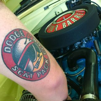 Dodge Scat Pack tattoo