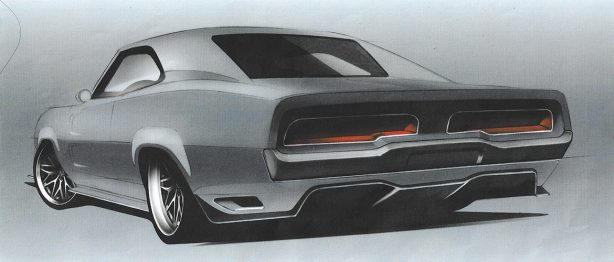Sketch of a Dodge Challenger