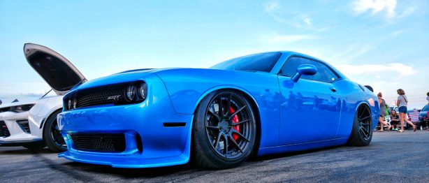 Blue Dodge SRT Challenger