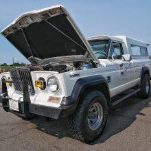 Older White Dodge Truck