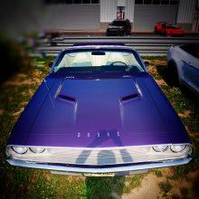 Purple Dodge Challenger