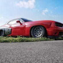 Red Dodge Challenger Hemi
