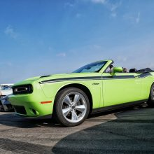 Green Dode Challenger convertable