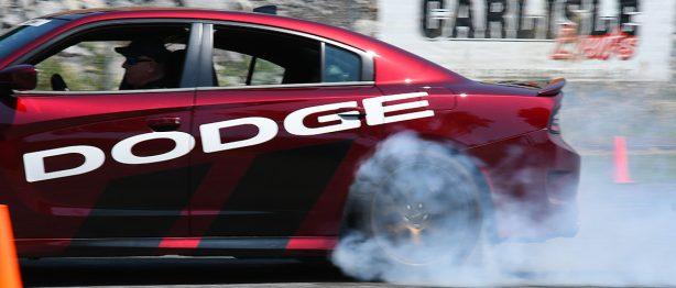 Dodge Charger giving a thrill ride
