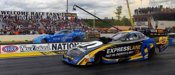 racecars racing at NHRA New England Nationals Recap