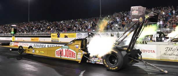 Two top thrill dragsters at Sonoma National