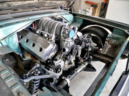 engine of a car