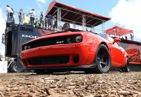 Dodge Demon SRT at the hospitality tent