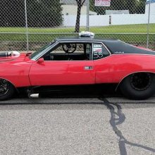 Old black and red sports car