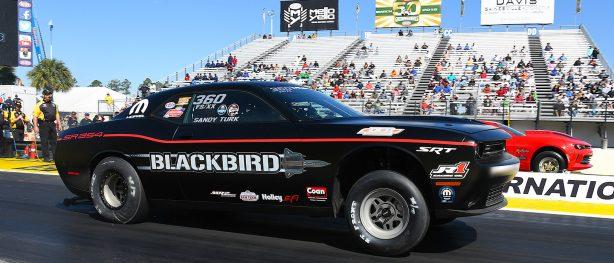Geoff Turk racing his Challenger Drag Pak