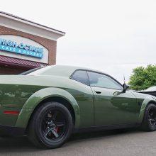 Green Dodge Demon SRT Challenger