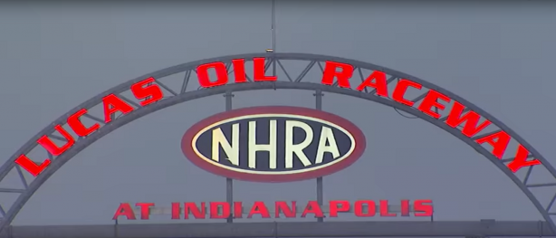 Sign at the entrance of Lucas Oil Raceway