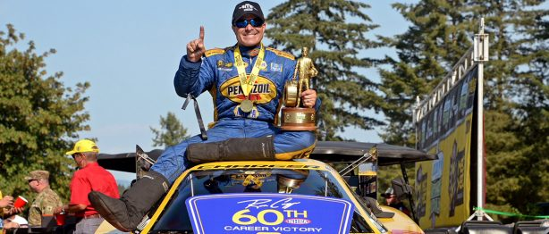 Ron Capp poses after NHRA Northwest Nationals